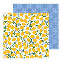 Pebbles - Along The Way Collection - 12 x 12 Double Sided Paper - Lemonade Stand