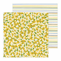 Pebbles - Along The Way Collection - 12 x 12 Double Sided Paper - Scattered Sunshine