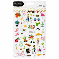 Pebbles - Chasing Adventure Collection - Clear Stickers - Tiny