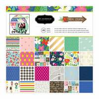 Pebbles - Chasing Adventure Collection - 12 x 12 Paper Pad with Foil Accents