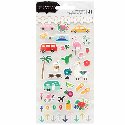 Pebbles - Chasing Adventure Collection - Puffy Stickers