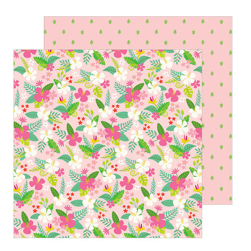 Pebbles - Chasing Adventure Collection - 12 x 12 Double Sided Paper - Tropical Delight