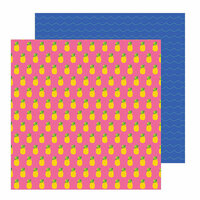 Pebbles - Chasing Adventure Collection - 12 x 12 Double Sided Paper - Pineapple Crush