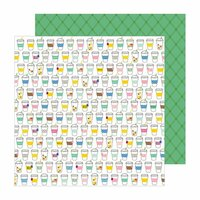 Pebbles - Chasing Adventure Collection - 12 x 12 Double Sided Paper - Sip Sip