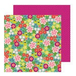Pebbles - Chasing Adventure Collection - 12 x 12 Double Sided Paper - Wild Flowers