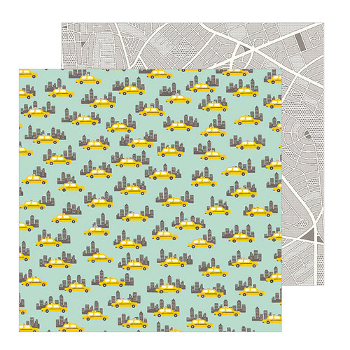 Pebbles - Chasing Adventure Collection - 12 x 12 Double Sided Paper - Big City