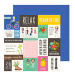 Pebbles - Chasing Adventure Collection - 12 x 12 Double Sided Paper - Enjoy the Journey