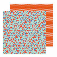 Pebbles - Chasing Adventure Collection - 12 x 12 Double Sided Paper - Scattered Blossoms