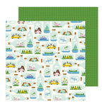 Pebbles - Chasing Adventure Collection - 12 x 12 Double Sided Paper - Tiny Travels