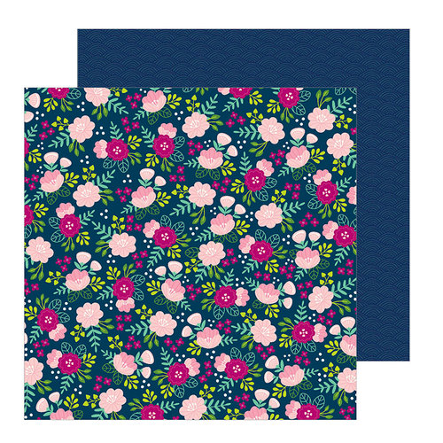 Pebbles - Chasing Adventure Collection - 12 x 12 Double Sided Paper - Asian Garden