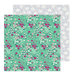 Pebbles - Chasing Adventure Collection - 12 x 12 Double Sided Paper - Cherry Blossoms