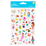 Pebbles - Oh Summertime Collection - Clear Stickers - Tiny