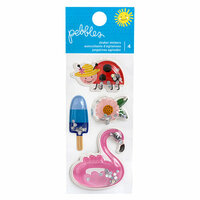 Pebbles - Oh Summertime Collection - Shaker Stickers