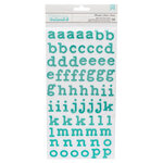 Pebbles - Oh Summertime Collection - Thickers - Foam - Teal Glitter - Alpha