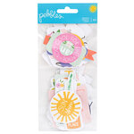 Pebbles - Oh Summertime Collection - Ephemera with Glitter Accents - Phrases