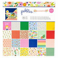 Pebbles - Oh Summertime Collection - 12 x 12 Paper Pad with Glitter Accents