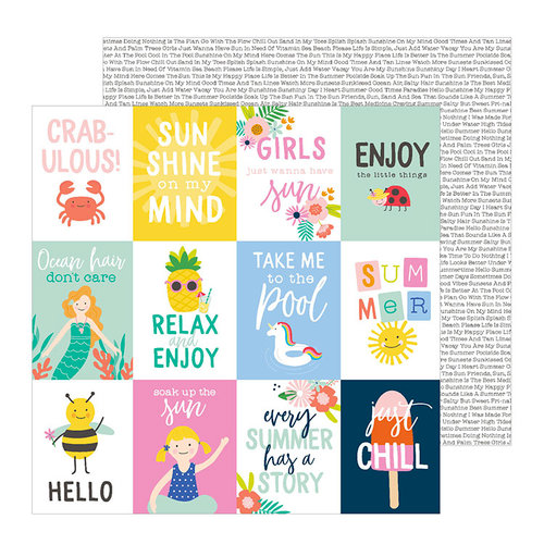 Pebbles - Oh Summertime Collection - 12 x 12 Double Sided Paper - Oh Summertime