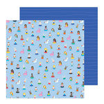 Pebbles - Oh Summertime Collection - 12 x 12 Double Sided Paper - Taking A Dip