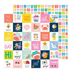 Pebbles - Oh Summertime Collection - 12 x 12 Double Sided Paper - Hello Summer