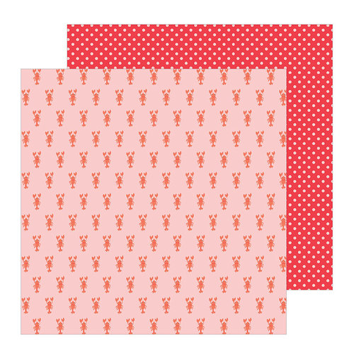 Pebbles - Oh Summertime Collection - 12 x 12 Double Sided Paper - Lobsters