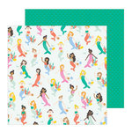 Pebbles - Oh Summertime Collection - 12 x 12 Double Sided Paper - Under The Sea