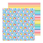 Pebbles - Oh Summertime Collection - 12 x 12 Double Sided Paper - Ball Toss