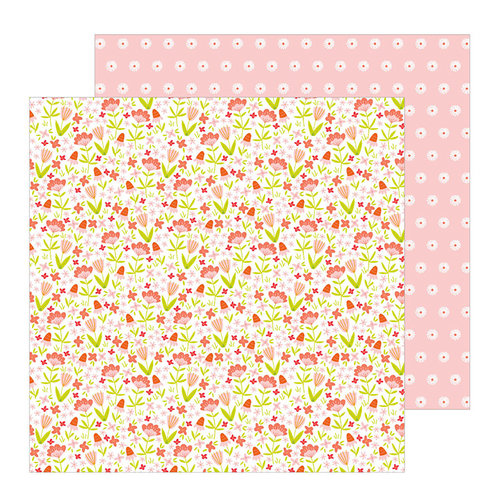 Pebbles - Oh Summertime Collection - 12 x 12 Double Sided Paper - Blossoms