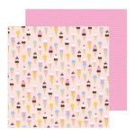 Pebbles - Oh Summertime Collection - 12 x 12 Double Sided Paper - Scoops
