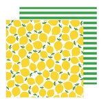 Pebbles - Oh Summertime Collection - 12 x 12 Double Sided Paper - Lemonade Stand