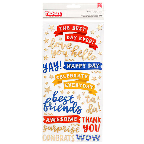 Pebbles - Big Top Dreams Collection - Thickers - Foam with Foil Accents - Phrases and Icons