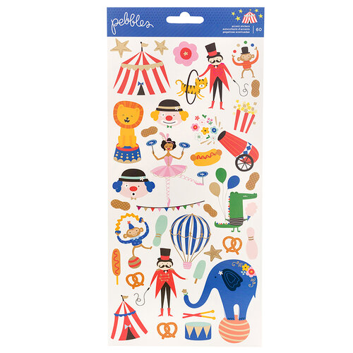 Pebbles - Big Top Dreams Collection - Stickers with Foil Accents