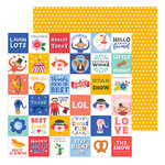 Pebbles - Big Top Dreams Collection - 12 x 12 Double Sided Paper - Best Day Ever