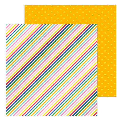 Pebbles - Big Top Dreams Collection - 12 x 12 Double Sided Paper - Tightrope