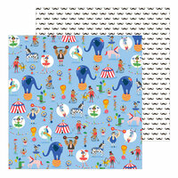 Pebbles - Big Top Dreams Collection - 12 x 12 Double Sided Paper - Amazing Show