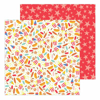 Pebbles - Big Top Dreams Collection - 12 x 12 Double Sided Paper - Circus Treats