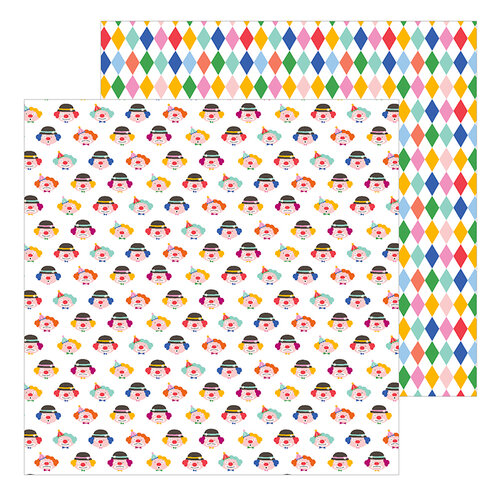 Pebbles - Big Top Dreams Collection - 12 x 12 Double Sided Paper - Clowns