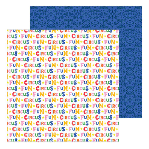Pebbles - Big Top Dreams Collection - 12 x 12 Double Sided Paper - Circus Fun
