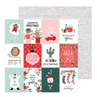 Pebbles - Merry Little Christmas Collection - 12 x 12 Double Sided Paper - Holiday Cheer