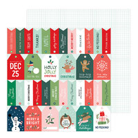 Pebbles - Merry Little Christmas Collection - 12 x 12 Double Sided Paper - Just For You