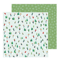 Pebbles - Merry Little Christmas Collection - 12 x 12 Double Sided Paper - Snow Day