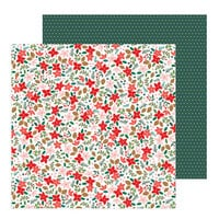 Pebbles - Merry Little Christmas Collection - 12 x 12 Double Sided Paper - Deck The Halls