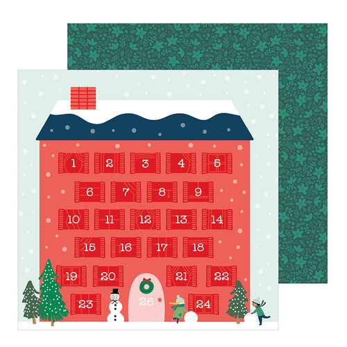 Pebbles - Merry Little Christmas Collection - 12 x 12 Double Sided Paper - Counting Down