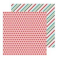 Pebbles - Merry Little Christmas Collection - 12 x 12 Double Sided Paper - Peppermint Candies