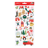 Pebbles - Merry Little Christmas Collection - Stickers with Foil Accents