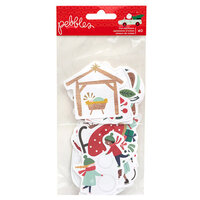 Pebbles - Merry Little Christmas Collection - Ephemera with Foil Accents - Icons