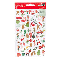 Pebbles - Merry Little Christmas Collection - Mini Sticker Book with Foil Accents