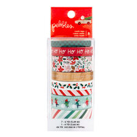 Pebbles - Merry Little Christmas Collection - Washi Tape with Foil Accents