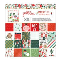 Pebbles - Merry Little Christmas Collection - 12 x 12 Paper Pad with Foil Accents