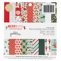 Pebbles - Merry Little Christmas Collection - 6 x 6 Paper Pad with Foil Accents