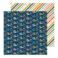 Pebbles - This Is Family Collection - 12 x 12 Double Sided Paper - Bike Ride